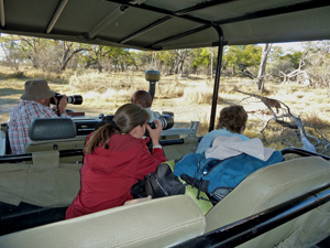 Traveling with friends in Botswana