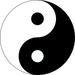 Black and white symbol for Yin and Yang