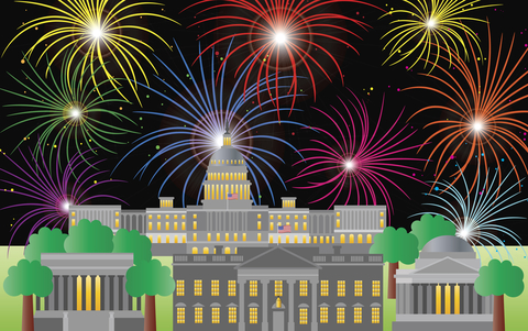 © Jpldesigns | Dreamstime.com - Washington DC Fourth Of July Fireworks Photo
